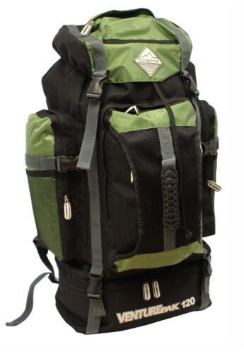 Large Camping Hiking Travel Festival Rucksack Backpack Bag Pack New 120L Black