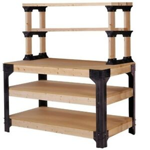 DIY Workbench Kit Work Table Legs Shelving System Assembly ...