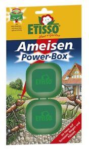 Etisso Ameisen Power-Box 2er Box Ameisenköder Ameisenbekämpfung Falle Köderbox