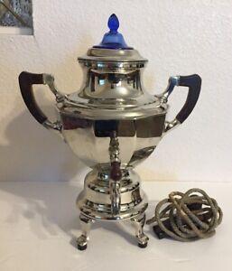 Vtg-Manning-Bowman-Coffee-Pot-Urn-Somavor-Art-Deco