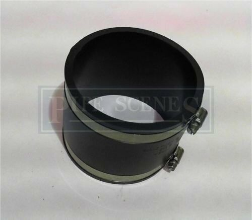 """110mm or 4/"""" Bandseal Type Flex Seal Rubber Coupler Cast Iron Plastic Universal"""