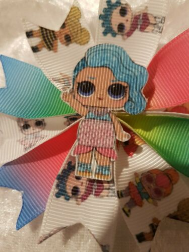 L.O.L Dovetail Surprise Dolls Hair Bow  Rainbow Ombré 3.5 inches