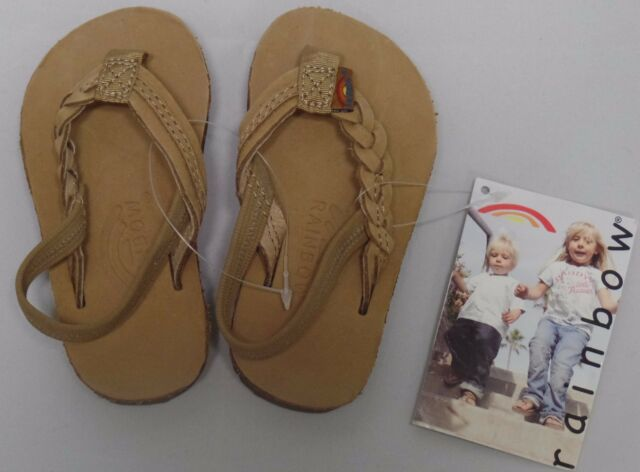 7ec3a61011e6 Rainbow Sandals Kids Flirty Braidy Leather Sandals Sierra Brown Size 3 4  Toddler for sale online