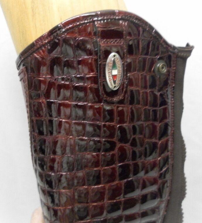 Half Chaps by Stivaleria Secchiari Size  Size Secchiari XS++ Ruby rosso Pelle Crocodile Print bb5985