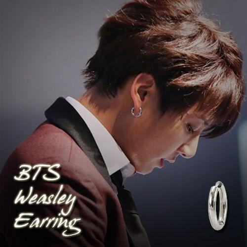 Bts Weasley One Touch Earrings Kpop Style Made In Korea Hot Item 1pair