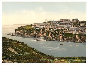 2-Victorian-Views-Port-Isaac-Cornwall-Photochroms-Old-Vintage-Photos-Poster-NEW