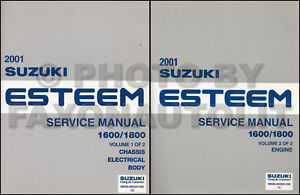 2001 suzuki esteem owners manual