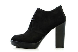 Womens HOGAN Shoe H273 Lace-Up Suede Ankle Boots ...