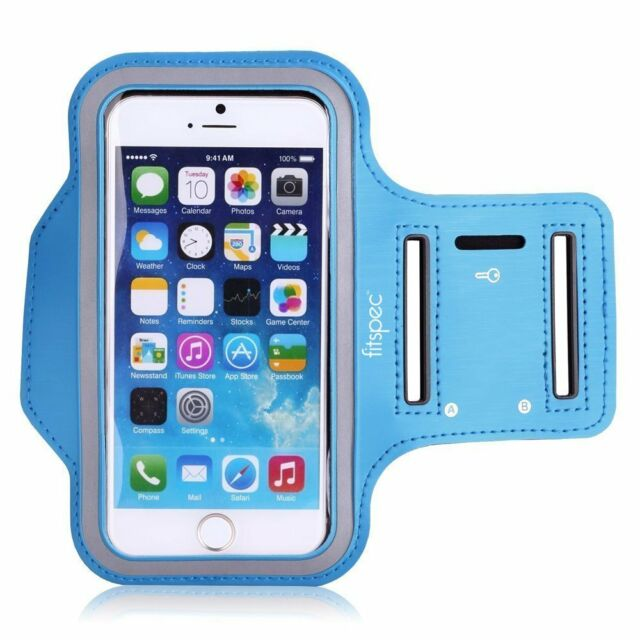 Running Sports Armband for Apple iPhone 6 6s 5 5s 5c SE Case Gym Blue Fitspec