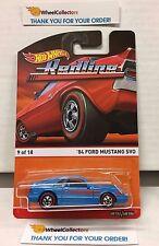 '84 Ford Mustang SVO * BLUE * 2015 Hot Wheels * RedLine Heritage * H27