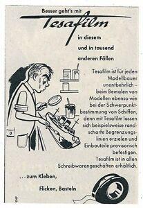 9-452-WERBUNG-AUS-EINER-ZEITSCHRIFT-TESAFILM-MODELL-BAU-RUCKSEITIG-BEDRUCKT