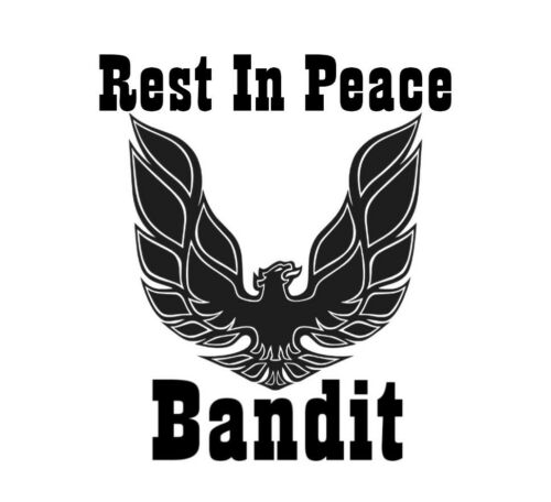 Car window decal truck outdoor sticker memorial Rest In Peace Bandit Movie star