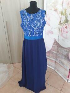 quality design 930bf 3b1dd Dettagli su vestito abito da cerimonia donna tg46-48 colore blu