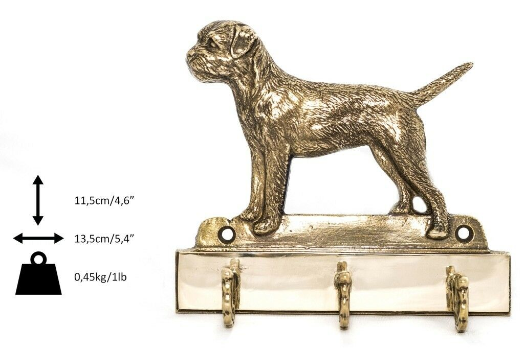 Border Terrier - brass hanger with image of a dog, high quality, Art Dog