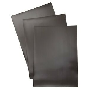 "(10) 8.5"" x 11"" Flexible Plain Magnetic Magnet Sheets - Black. set of 10 Sheets."