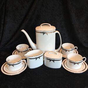 Kate-Spade-Lenox-GRACE-AVENUE-Coffee-Pot-Sugar-Serving-Bowl-Creamer-Cup-Saucer