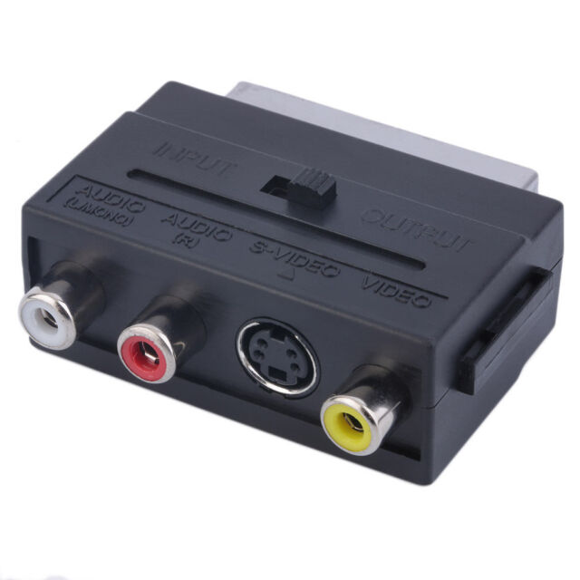 Popular RGB Scart to Composite 3RCA S-Video AV TV Audio Adapter MWUS HF