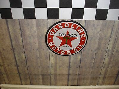 SIGN - TEXACO oil/gas sign - Metal Construction-1/18 & 1/24 Scale Diorama