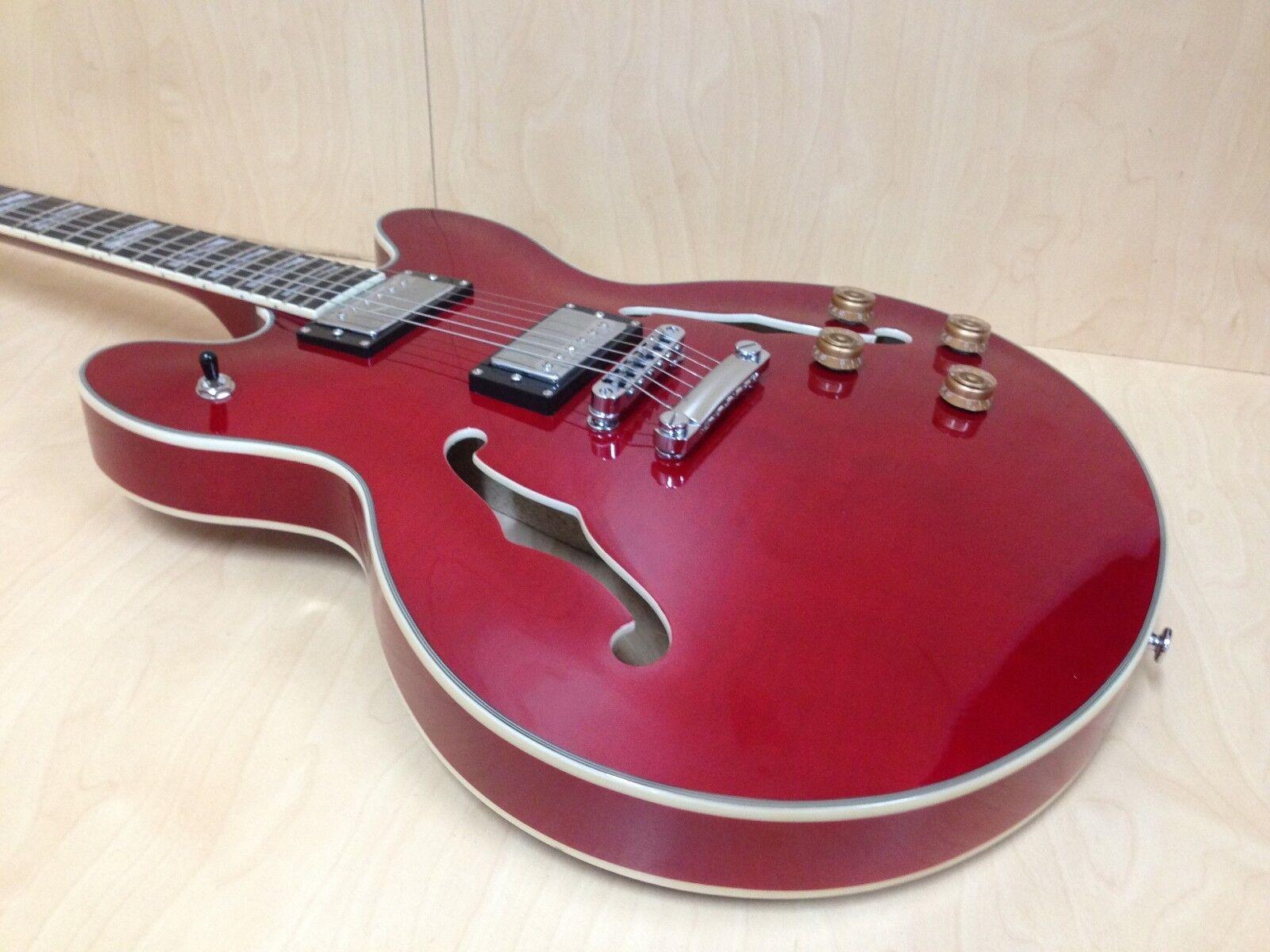 Haze ES-335 Estilo Guitarra Eléctrica Eléctrica Eléctrica Semi Hueco Rojo Cereza SEG-272 + bolsa Gig Bag GRATIS  Precio por piso