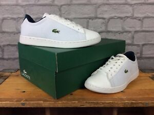 LACOSTE-LADIES-UK-3-EU-35-5-WHITE-BLUE-CARNABY-TRAINERS-RRP-65