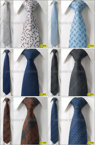 Wholesale-5-PCS-100-Woven-Silk-Men-3-034-8cm-Wedding-Groom-Fashion-Neck-Tie