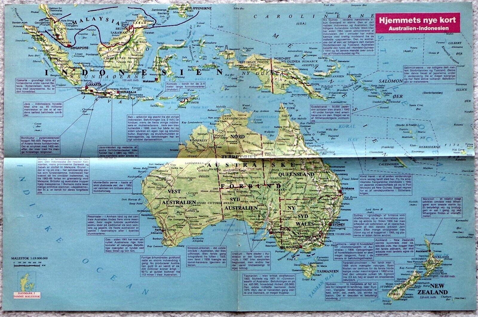 Landkort Kort Over Australien Dba Dk Kob Og Salg Af Nyt Og Brugt