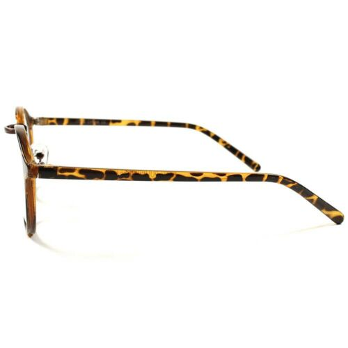 Round Vintage Retro Cool Mens Womens Black Thin Frame Clear Lens Glasses C89