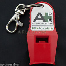 Red Search & Rescue Whistle For Saving Life! Survival Emergency Kits 120 db+