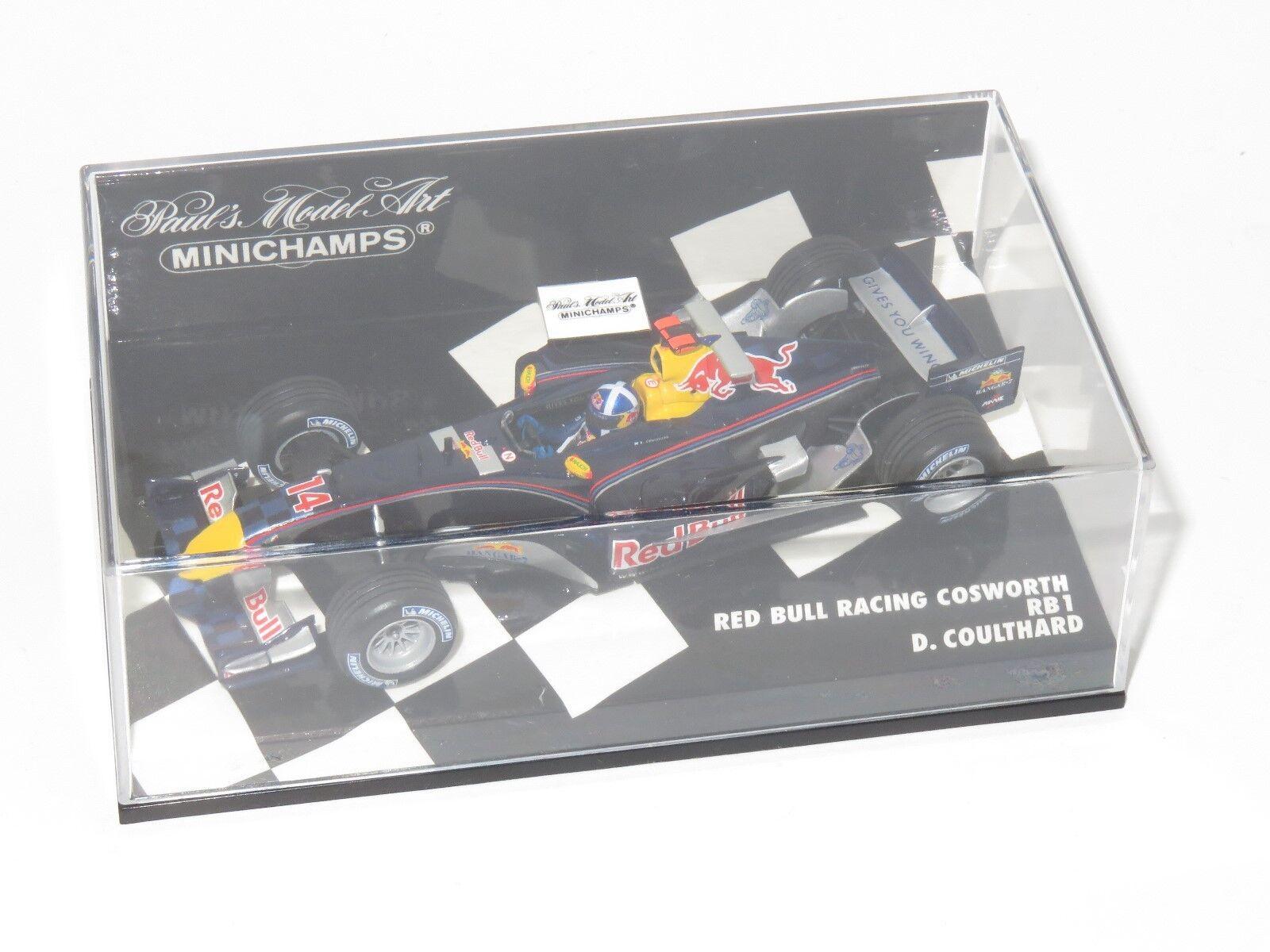 Garantía 100% de ajuste 1 43 43 43 rojo Bull Racing Cosworth RB1 temporada 2005 D. Coulthard  contador genuino