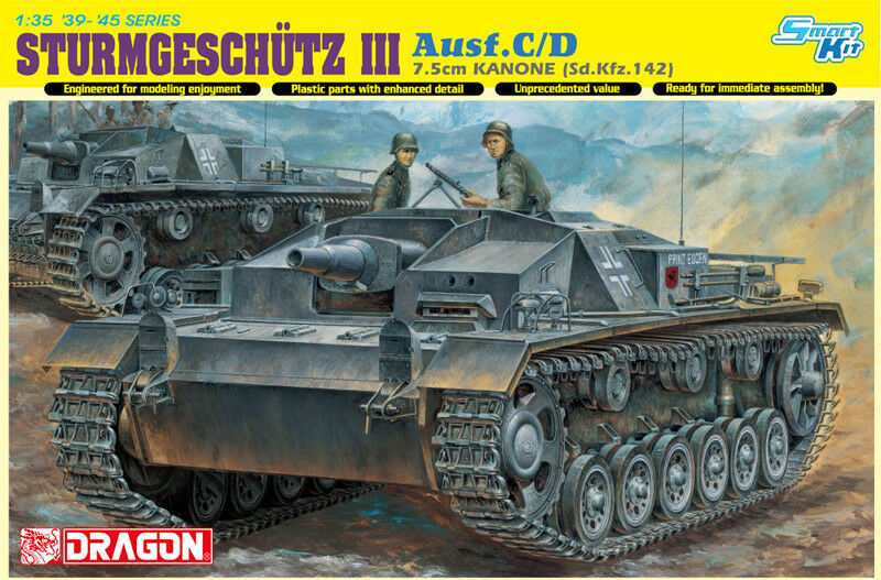 DRAGON 6851 1 35 STURMGESCHUTZ 7.5cm KANONE (Sd.Kfz.142) Ausf.C D Smart Kit NEW