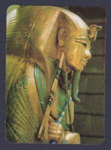 Playing-Cards-1-Single-Card-Old-Wide-Pharaoh-TUTANKHAMUN-SARCOPHAGUS-Art-Picture