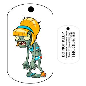 ZENA le zombie Pour Geocaching-traçable Tag Travel Bug