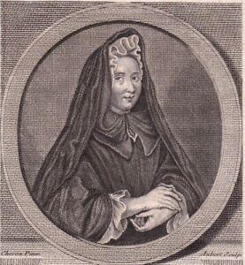 Portrait-XVIIIe-Madame-Guyon-Jeanne-Marie-Bouvier-La-Mothe-Guion-Mystique-1786