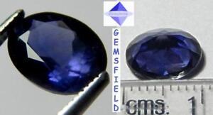 RARE-VVS-2-21cts-IOLITE-d-039-INDE-lumineux-bleu-mauve-poli-AAA