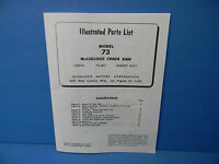 Mcculloch Model 73 Chainsaw Illustrated Parts List Manual ---------------- Man42