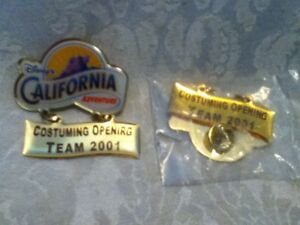 TWO-o-Disney-ERROR-amp-REVISED-California-Adventure-Costume-Cast-Member-Pin