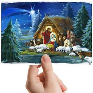 Nativity-Scene-Christmas-Small-Photograph-6-034-x-4-034-Art-Print-Photo-Gift-16504