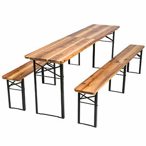 Image is loading Beer-Table-Set-Outdoor-Beer-Tent-Garden-Beer-  sc 1 st  eBay & Beer Table Set Outdoor Beer Tent Garden Beer Bench Beer Table ...