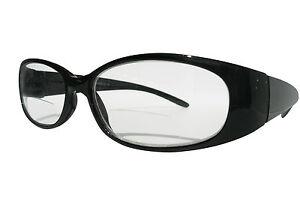 d05d7f0ad3df Image is loading Ladies-Bifocal-Designer-Black-Polished-Framed-Stylish-Oval-