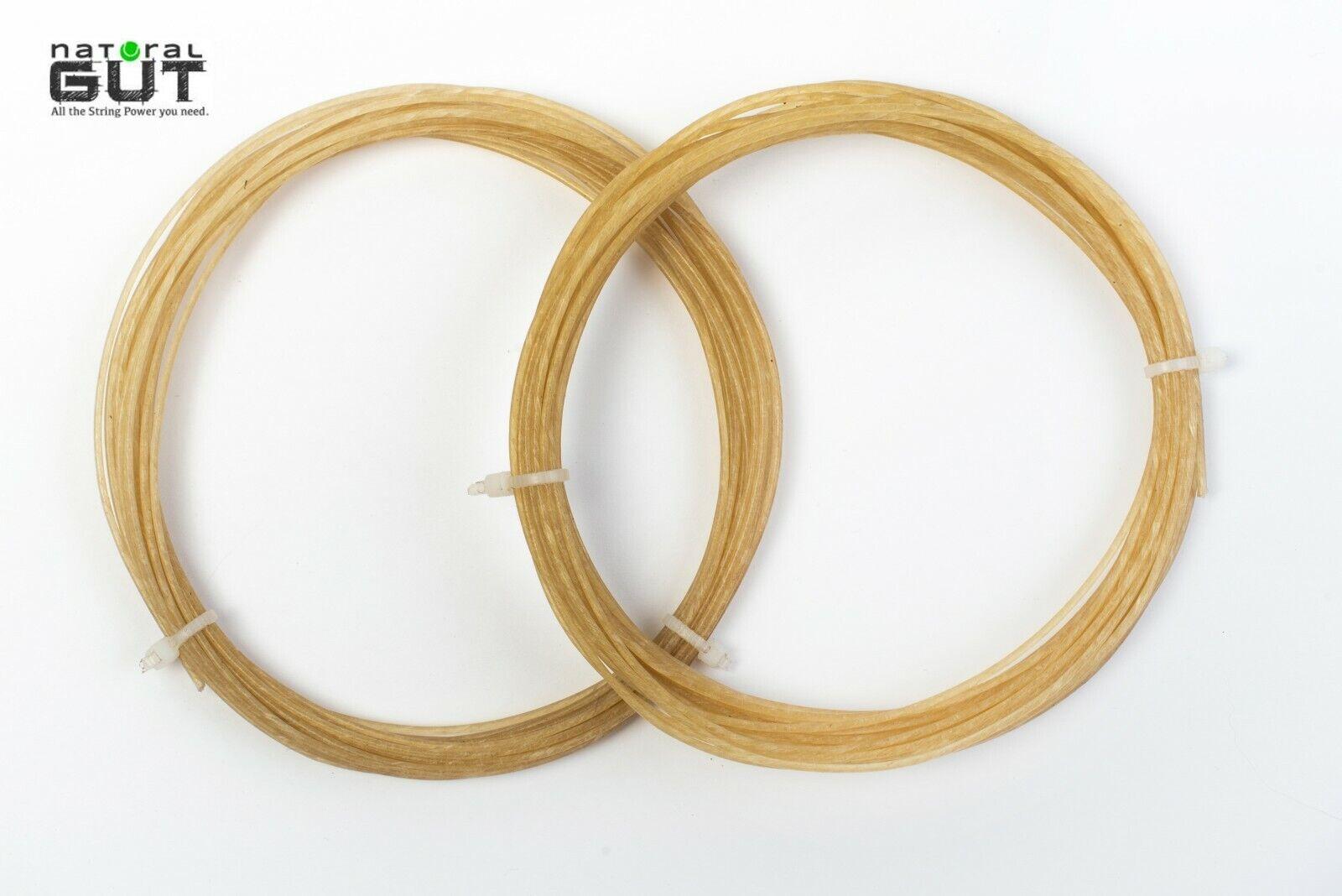 4 conjuntos n.g.w. 15G V5 100% natural de tripa tenis raqueta cadena de Color natural de 40 pies