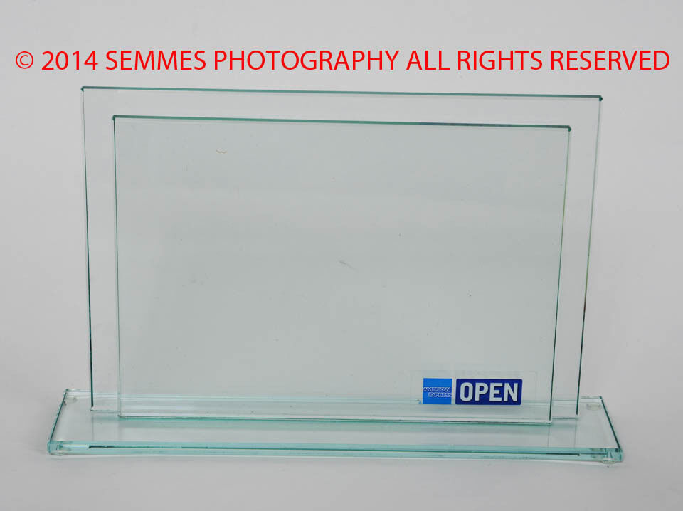 American Express Glass frame US Open New see my photos and description NEW