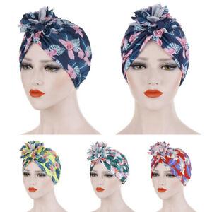 Women-Flower-Hat-Muslim-Ruffle-Cancer-Chemo-Beanie-Scarf-Turban-Head-Wrap-Cap