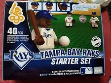 MLB TAMPA BAY RAYS OYO STARTER SET WITH 3 FIGURES 40 PIECE TOTAL BRAND NEW