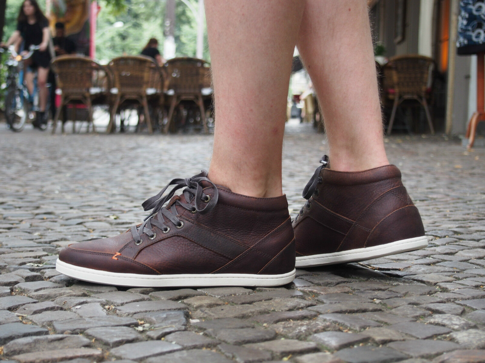 HUB Footwear Schuhe KINGSTON L dunkel braun Echtleder Herrenschuhe NEU Sneakers