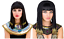 Cleopatra Egyptian Wig Ladies Women Queen Fancy Dress Black Gold Braided Hair