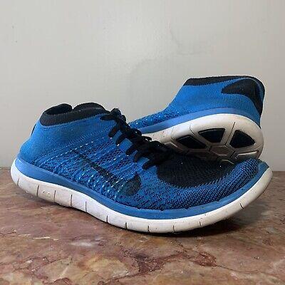 on sale 0b83d 2774d Nike Flyknit Free Run 4.0 Men Size 13 Blue Black No Insoles Missing Tag |  eBay