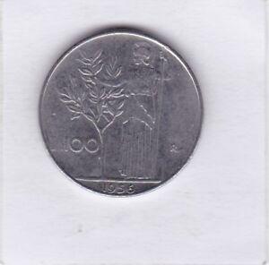 100-Lire-Italien-1956-Italy-prima-Erhaltung
