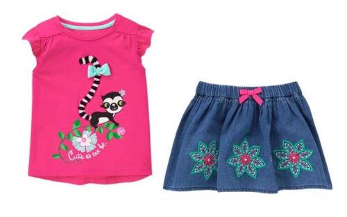 NWT Gymboree JUNGLE BRIGHTS sz 2T 3T 4T Lemur Top /& Skirt NEW