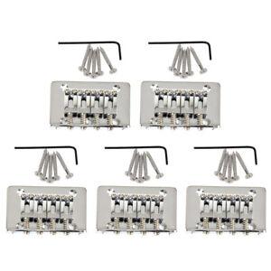 5-Sets-4-String-Fixed-Bridge-for-Mandolin-Ukulele-Cigar-Box-Guitar-Chrome