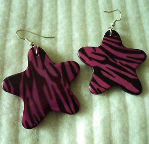 Pendientes-estampado-animal-rosa-Pink-animal-print-earrings